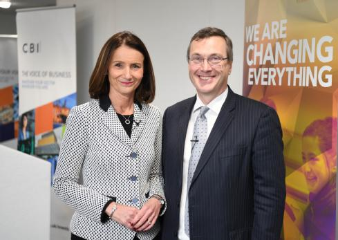 CBI Director General Carolyn Fairbairn and Vice-Chancellor Stuart Croft