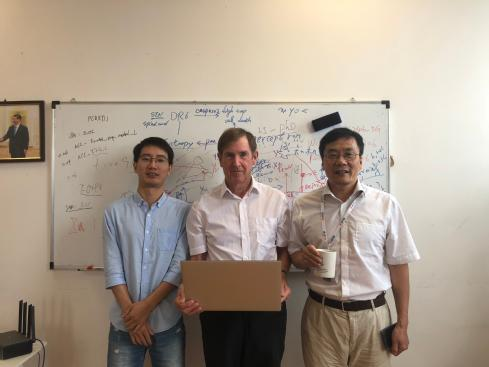 From left to right: Dr Wei Cheng, University of Fudan, Prof. Edmund Rolls and Prof. Jianfeng Feng University of Warwick