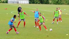 England men's Under 19's training camp for the European Championships