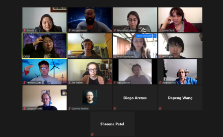 This years DSSGx UK participants in a virtual meeting