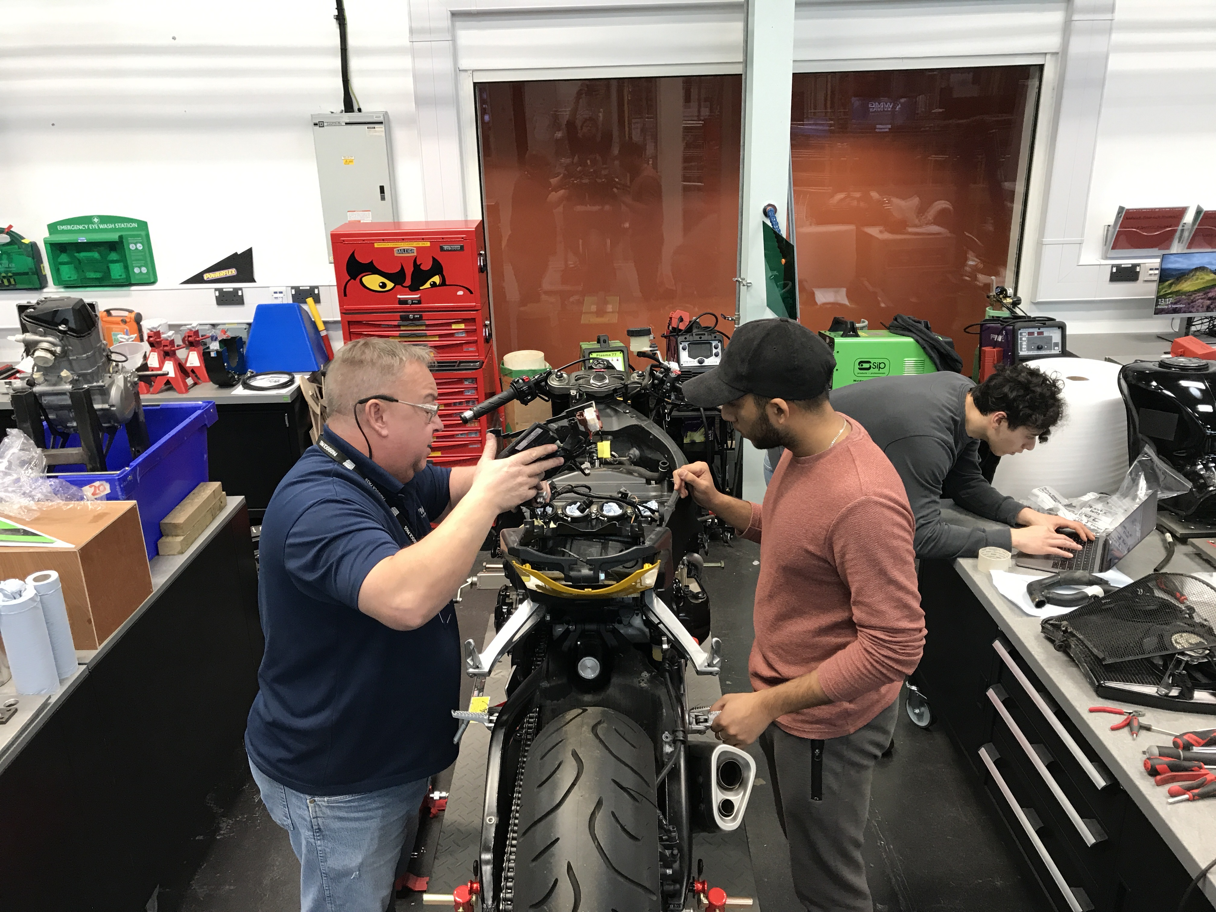 Newswise: Warwick Moto's electric superbike build racing ahead despite lockdown
