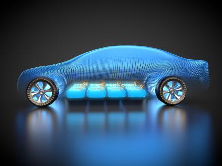 Caption: Electric vehicle battery conceptual view  Credit: Eatron