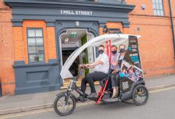 One of the pedicabs outside 1 Mill Strett