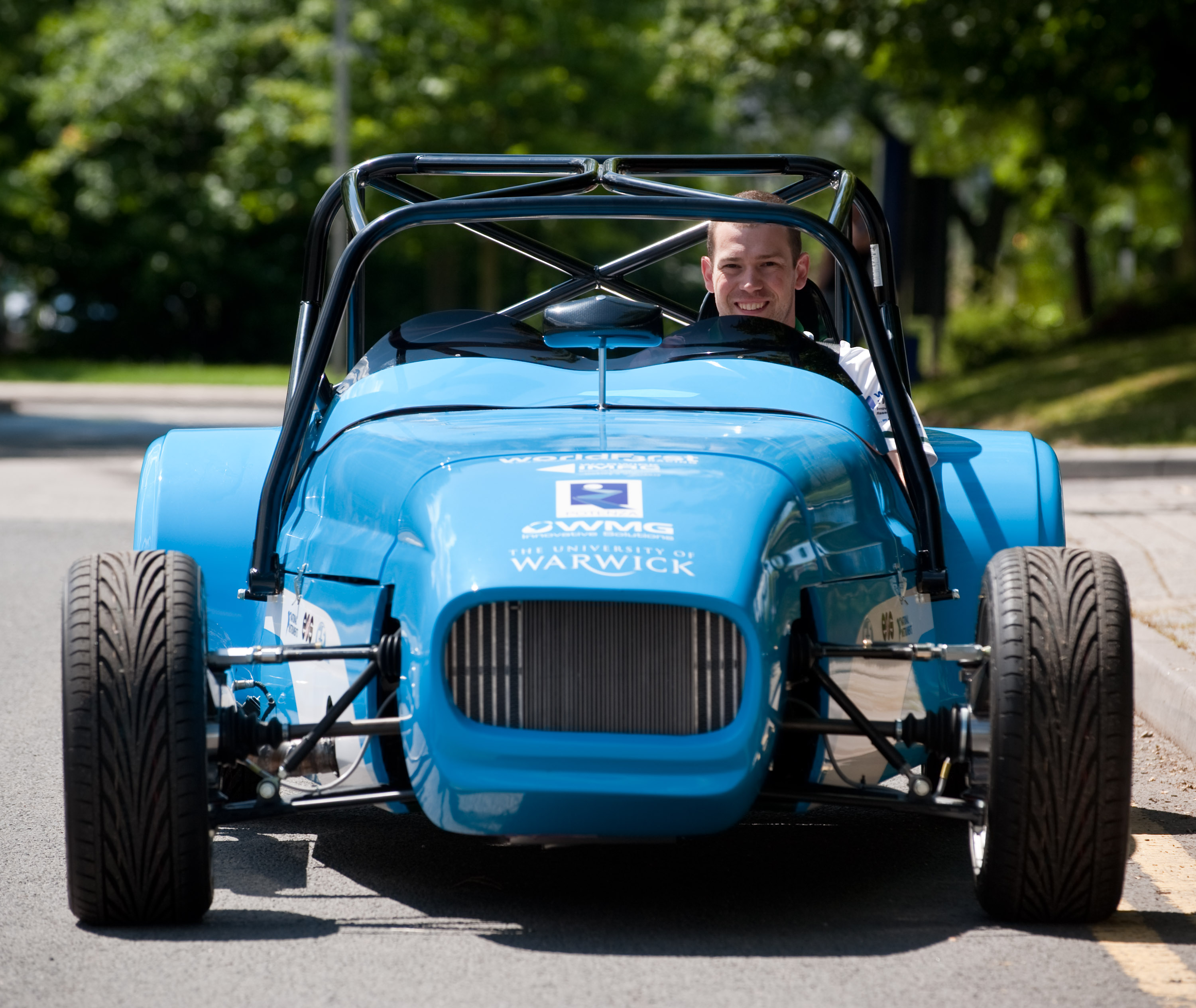 Research Engineer Stephen Lambert With The Hybrid Kit Car At University Of Warwick