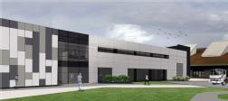 Artist impression of building to house the Advanced Steel Research Hub