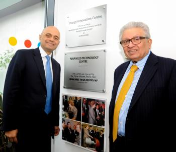 Business secretary Sajid Javid visits Lord Bhattacharyya