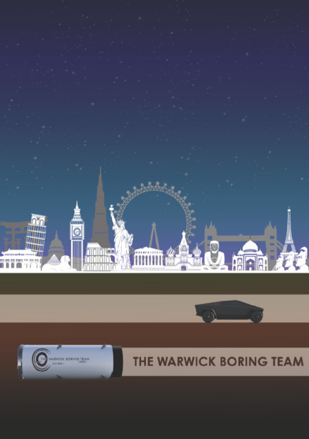 Caption: The Warwick Boring Team graphic of tunnelling  Credit: University of Warwick