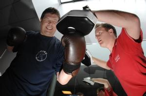Polar Explorer Mark Wood and Personal Trainer Russell Boorer (from L-R)