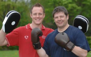Personal Trainer Russell Boorer and Polar Explorer Mark Wood (from L-R)