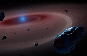 University of Warwick astrophysicists have pinpointed four white dwarfs surrounded by dust from shattered planetary bodies which once bore striking similarities to the composition of the Earth - research using the HST