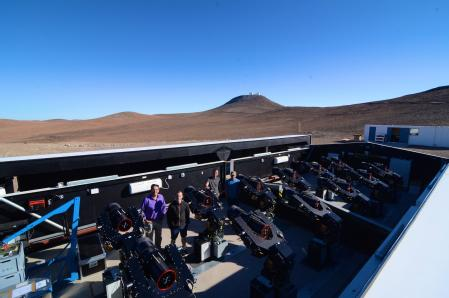 The NGTS facilities in Chile where the telescopes are with some researchers. Credit: University of Warwick