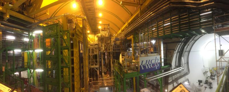 The LHCb experiment at CERN.