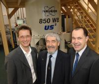 from left Dr Steven Brown University of Warwick Department of Physics, David Delpy, the Chief Executive of EPSRC, Professor Mark Smith, Deputy Vice-Chancellor University of Warwick