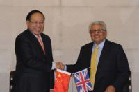 Professor Zhang Xinxin, USTB President with Professor Lord Bhattacharyya, Chairman of WMG