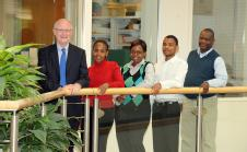 Vice-Chancellor Professor Nigel Thrift meets South African maths teachers