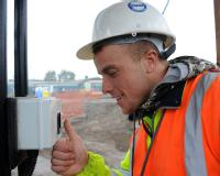 Warwick Warp BioLog equipment in use on a Coventry building site - Simon Catchpole, Steel Erector