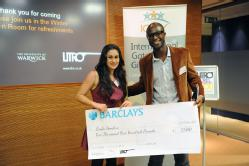 Layla Hendow, winner of the 2011 IGGY & Litro International Short Story Competition, with Eric Akoto, Editor in Chief, Litro