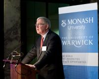 Monash Vice-Chancellor Professor Ed Byrne  at the Launch of the Monash-Warwick Alliance at Australia House in London