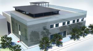 Initial artist's impression of what the International Institute for Nanocomposites Manufacturing could look like