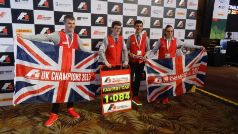 Four Coventry teenagers are celebrating after the car they designed was named the fastest in a worldwide competition.