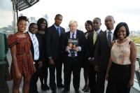 Graduate Tonica Hunter (first on left) has been named as one of the top ten outstanding black graduates in the UK
