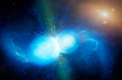 Merging neutron stars.