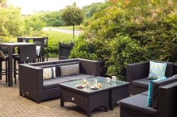 Scarman outdoor seating