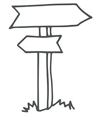 Doodle of sign posts