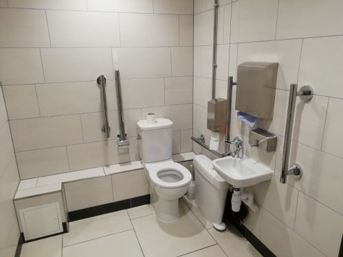 The new disabled toilet in the ground floor library toilet block.