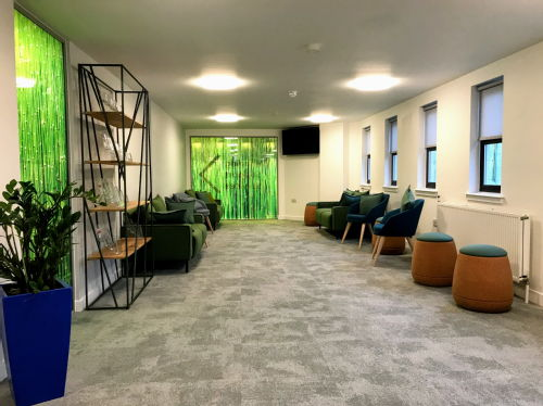 Wellbeing Support Services waiting area