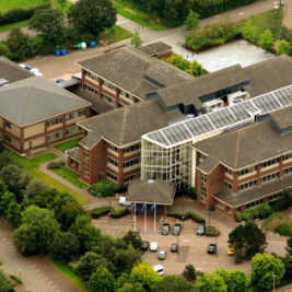 Image of Uni House from above