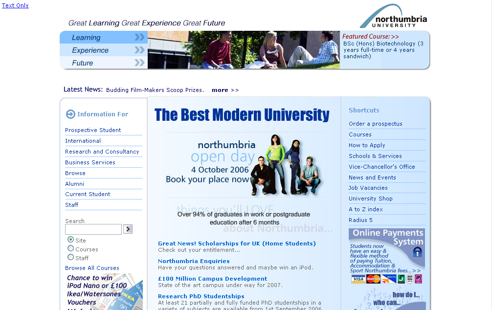 Its web team university home page project northumbria university What s the best home design software