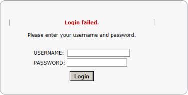 Login Failure
