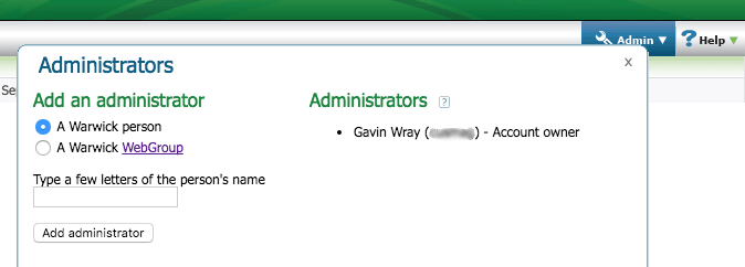 Add administrators options