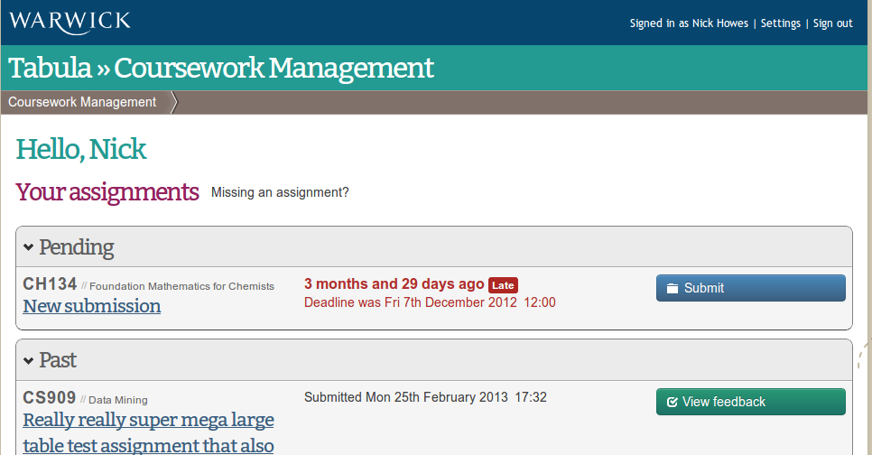 tabula coursework management warwick