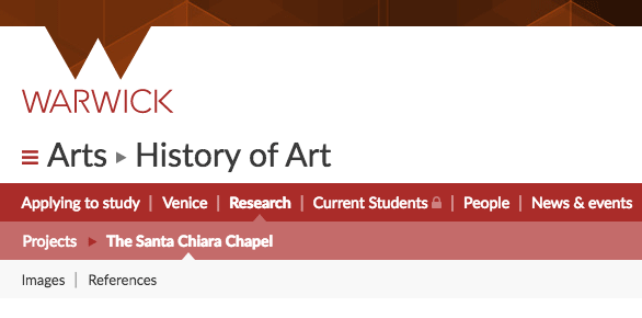 Logical page hierarchy for History of Art research projects