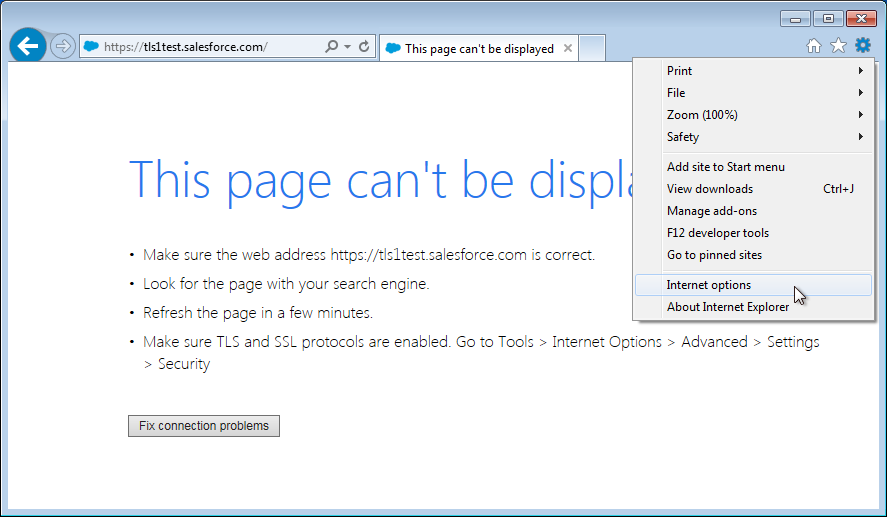 Enable TLS 1 2 in Internet Explorer 8, 9 or 10 - IT Services