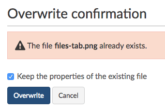 Overwrite file confirmation options