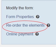 Forms - reorder the elements on the form
