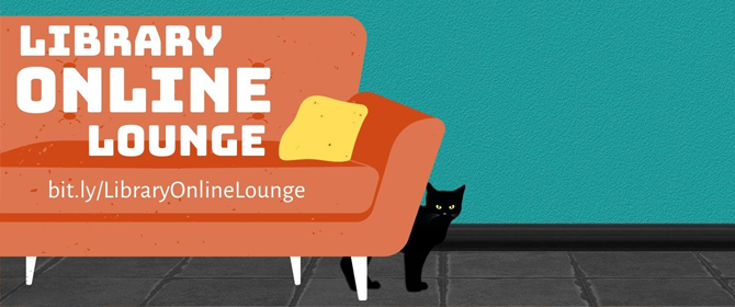 Library Online Lounge promotional logo