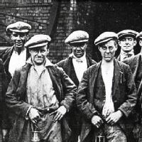 Group of coal miners, c.1926