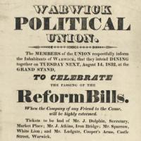 Warwickshire political ephemera, 1774-1874