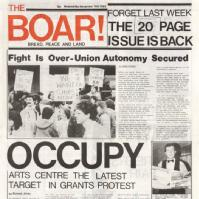 Extract from front page of The Boar, 1982