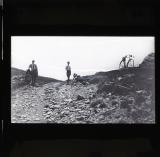Cyclists posing at summit of Nant Rhyd Wilym [Rhydwilym]
