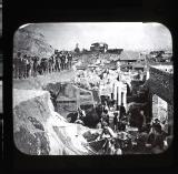 Excavating a Villa at Pompei. Italy