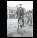Tom Hughes on his 1874 Ordinary, 1923