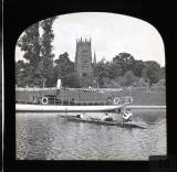 Evesham - the Avon with boating, Worcestershire