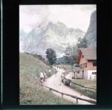 Cyclists preparing to ride over Great Scheidegg