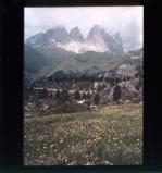 Pordoi Pass, Sassolungo section of the Dolomites, Italy