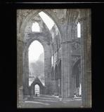 Cathedral ruins, looking to door